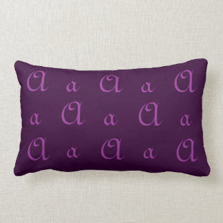 Fancy A Monogram in Purple Pillows
