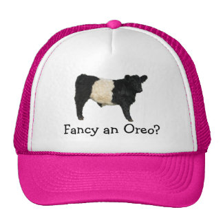 Fancy an Oreo? Belted Galloway Cow Mesh Hat