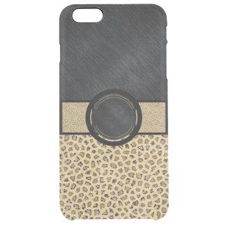 Fancy Animal Print Monogram Clear iPhone 6 Plus Case