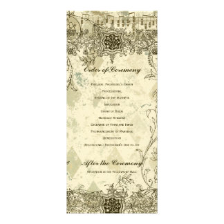 Fancy Antique Music Wedding Program