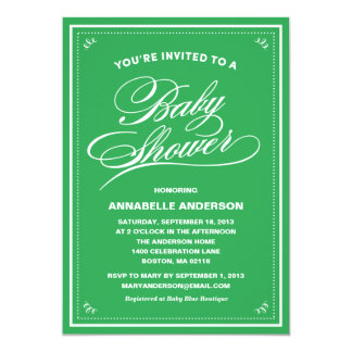 Fancy Baby Shower Invitations
