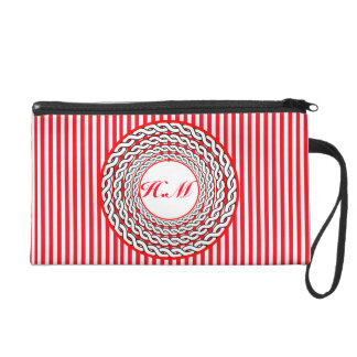 Fancy bag-Red stripes custom+ Graphic design Wristlet Clutches