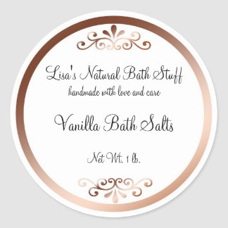 Fancy Bath Products Label Round Sticker