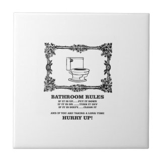 fancy bathroom rules tile