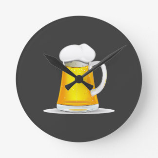 Fancy Beer Clock, you;ll always when it is time Wallclock