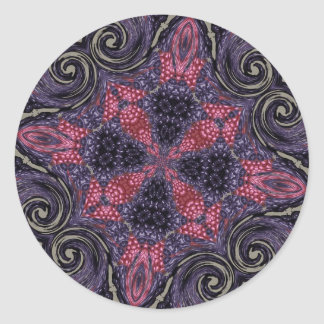 Fancy Berry Cross Classic Round Sticker