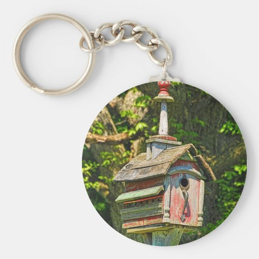 Fancy Birdhouse Keychain