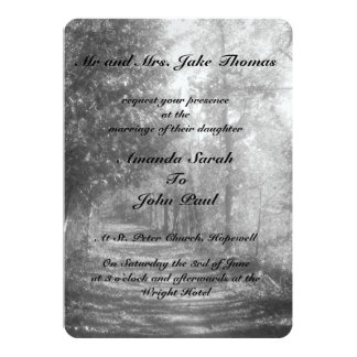 Fancy Black and White Nature Card
