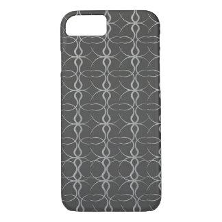 Fancy Black Lines Vintage Pattern iPhone 7 Case