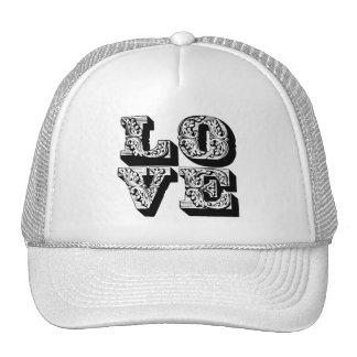Fancy Black & White  Love Trucker Hat