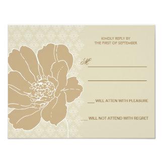 "Fancy Blossom Response Card 4.25"" X 5.5"" Invitation Card"