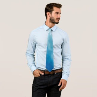 Fancy Blue Clouds Watercolor Tie