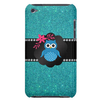 Fancy blue owl turquoise owl iPod touch cover