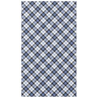 Fancy Blue Plaid Pattern Tablecloth