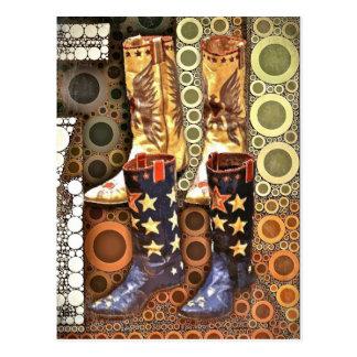 Fancy Boots Postcard