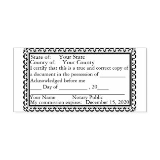 Fancy Border Notary Public Copy Stamp