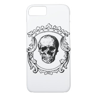 fancy border skull king Case-Mate iPhone case