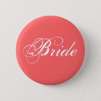 Fancy Bride On Coral 2 Inch Round Button