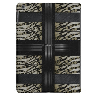 Fancy Brown Black Zebra Cover For iPad Air