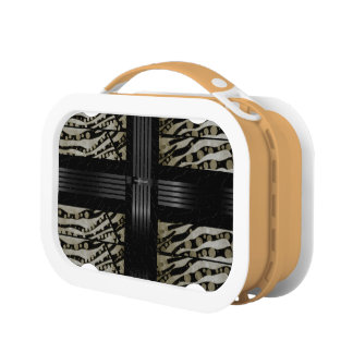 Fancy Brown Black Zebra Lunchbox