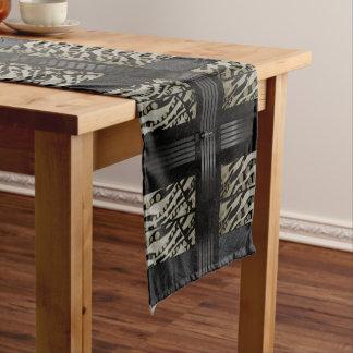 Fancy Brown Black Zebra Short Table Runner