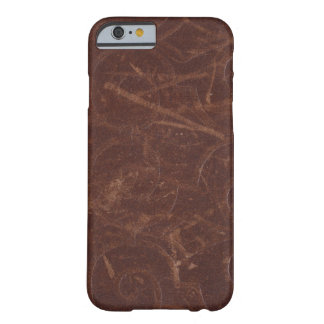 Fancy Brown Swirl Faux Leather Barely There iPhone 6 Case