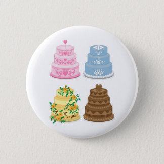 Fancy cakes 2 inch round button