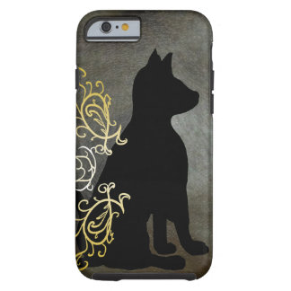 Fancy Cat Leather Look Flair Modern CricketDiane Tough iPhone 6 Case