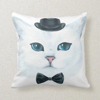 Fancy Cat Throw Pillow
