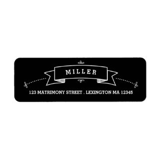 Fancy Chalkboard Vintage Wedding Address Label