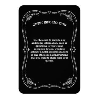 Fancy Chalkboard Vintage Wedding Guest Information Card