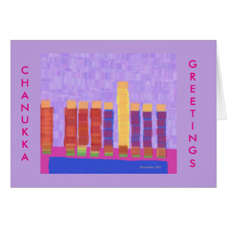 Fancy Chanukkah Menorah greeting card
