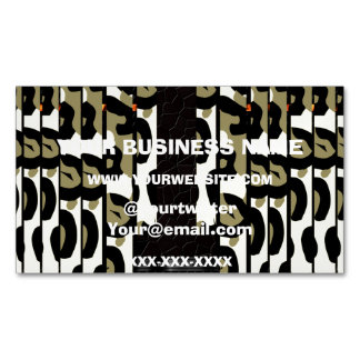 Fancy Cheetah Camo Business Card Magnet