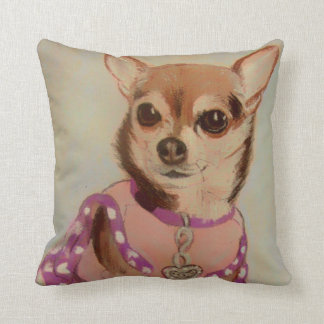 Fancy Chihuahua Throw Pillow
