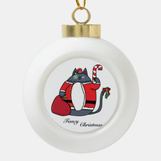 Fancy Christmas Ceramic Ball Christmas Ornament