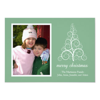 Fancy Christmas Tree Card (Mint Green)
