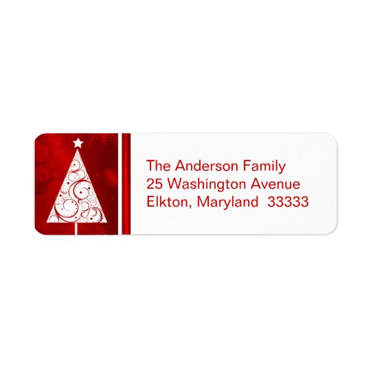 Fancy Christmas Tree  Return Address Labels Zazzle