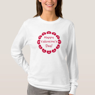 Fancy circle of red hearts Valentine's day T-Shirt