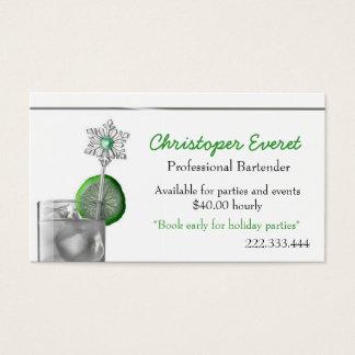 Fancy Cocktail Bartender business card