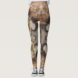 Fancy Crazy Lace Agate Rock Photo Designed Leggings