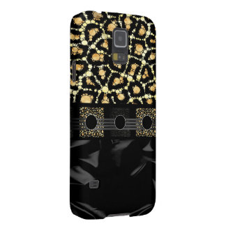 Fancy Cream Cheetah Bling Cases For Galaxy S5