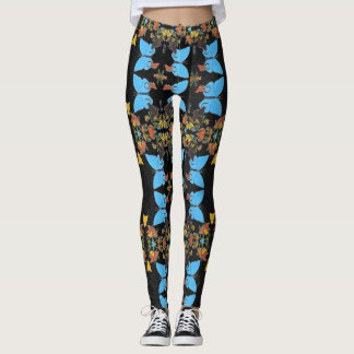 Fancy Cute Colorful Butterfly Collage Designed Leggings