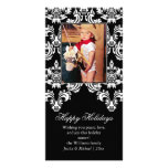 Fancy Damask Holiday Card Picture Card