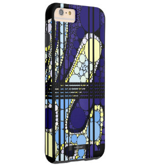 Fancy Dark Blue Abstract Tough iPhone 6 Plus Case