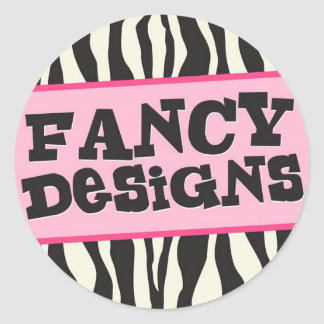 Fancy Designs Classic Round Sticker