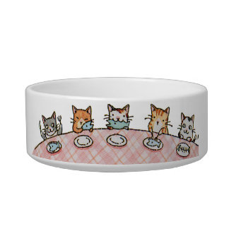 Fancy Dinner Feast Ceramic Pet Cat Bowl