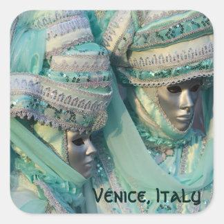 Fancy Dress Couple Costumes Square Sticker