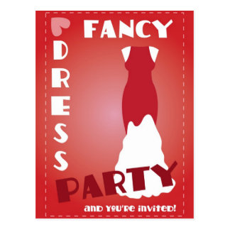 Fancy dress party and you're invited card