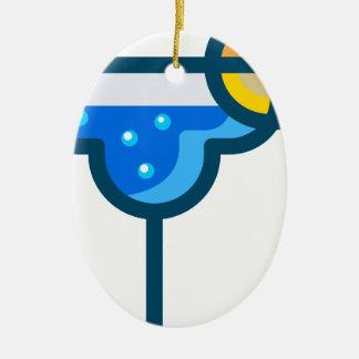 Fancy Drink Ceramic Ornament