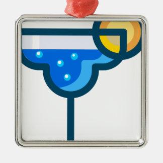 Fancy Drink Metal Ornament